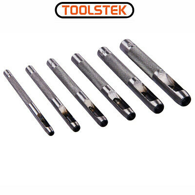 6 Piece Hollow Punch Set Amtech Quality Tool Leather Hole Cutter Paper New • 2.99£