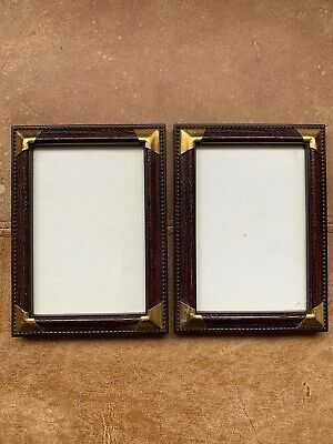 Beautiful Pair Wood Effect Gold Photo Picture Frame Rococo Baroque Beaded Style • 15.29£