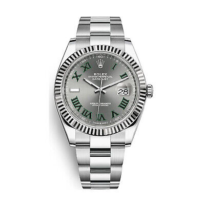 $ CDN14208.82 • Buy Rolex Datejust 41 Steel 18K White Gold Slate Dial Automatic Mens Watch 126334