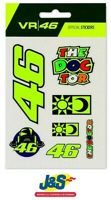 VR46 Valentino Rossi Stickers Small Set Classic Official Motorcycle UST399703 • 7.99£