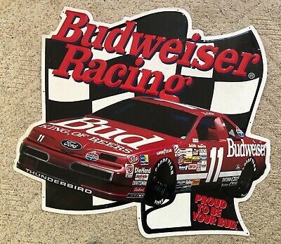 $ CDN65.99 • Buy Budweiser Beer NASCAR Racing Metal Sign #11 Jeff Bodine Bill Elliot 1993