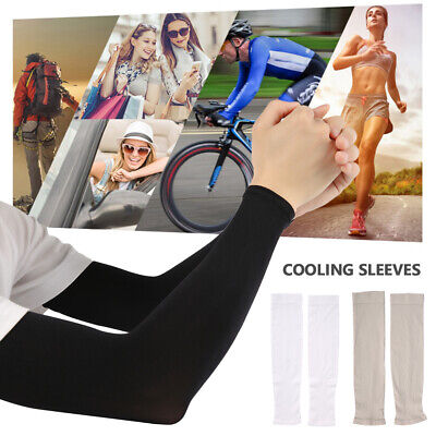 Summer Cooling Arm Sleeves Outdoor Sport Basketball UV Sun Protection Arm Cover • 3.99£