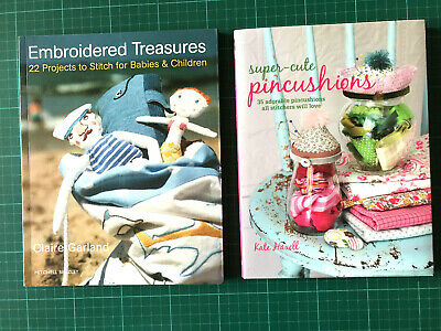 2 Sewing Embroidery Books - Super Cute Pin Cushions & Embroidered Treasures • 12£