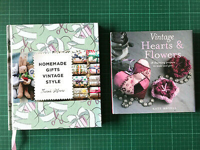 2 X Vintage Homemade Gifts Books Hearts & Flowers + Vintage Style Knit Sew Craft • 12£