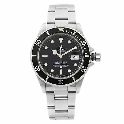 $ CDN9921.49 • Buy Rolex Submariner Stainless Steel Black Dial Date Automatic Mens Watch 16610