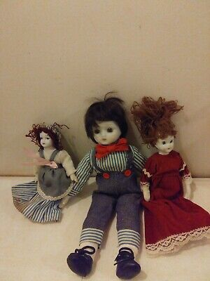 $ CDN20.23 • Buy White Bisque Porcelain Doll Lot Of 3 Unmarked Pre Owned
