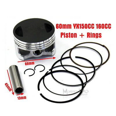 AU30.41 • Buy 60MM Piston Rings YX150 YX160 150CC 160CC Xmotos Apollo Orion Pit Dirt Bikes