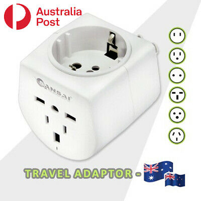 AU12.99 • Buy Travel Adaptor UK/USA/Europe/China/Japan & More Other Countries To Australia