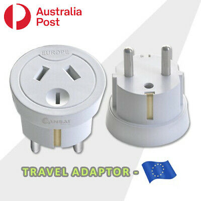 AU10.99 • Buy Travel Adaptor From Australia & New Zealand Travel To Europe
