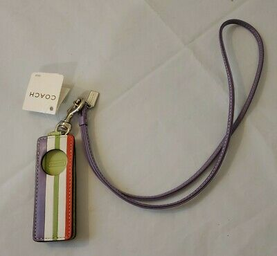 £9.09 • Buy New NWT Coach Stiped Leather Strap Ipod Shuffle 3 Gen Case. Very Nice