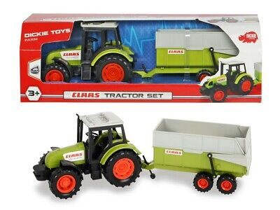 AU29.99 • Buy Dickie Toys Class Farm Tractor And Trailer 36cm