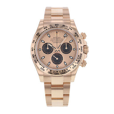$ CDN50912.37 • Buy Rolex Cosmograph Daytona 18K Rose Gold Pink Dial Automatic Mens Watch 116505