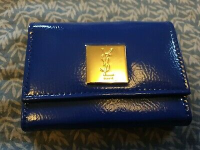 (z22) Ysl Beauty Electric Blue Makeup Purse Holder Palette Holder With Mirror • 12.99£