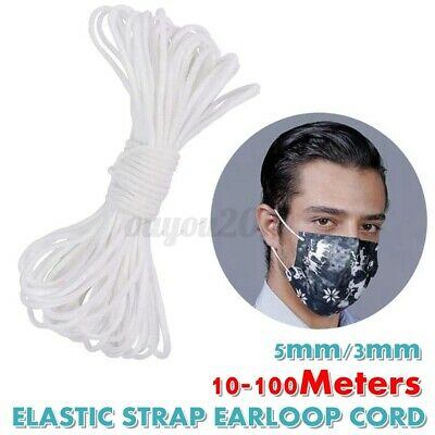 $ CDN6.21 • Buy 3mm/5mm Round Elastic Band Cord Ear Hanging Sewing For Face Cover 109