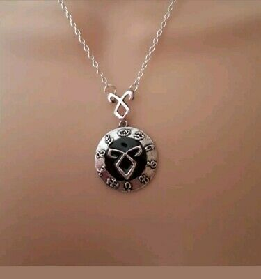 Mortal Instruments Rune Necklace Silver Shadowhunters Clary Jace City Of Bone • 4.99£