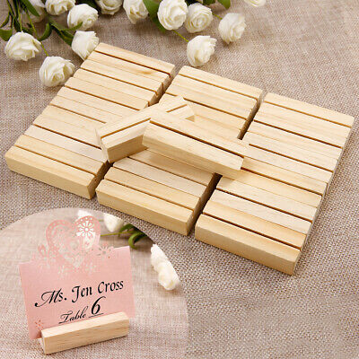 £9.99 • Buy Wooden Photo Note Place Card Name Holder Cafe Shop Menu Table Number Clips Stand