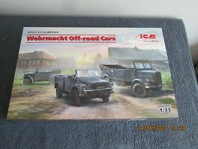 *1/35  ICM  WEHRMACHT  OFF ROAD   CARS    (3 KITS)    (DS3503)     742g • 54.99£