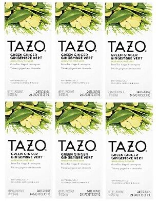 £14.19 • Buy Tazo Green Ginger 24 Tea Bags Box LOT OF SIX (6)! Best By 1/31/2022