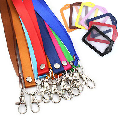£4.38 • Buy 2x Neck Strap Lanyard For ID Cards,Staff Name Badges, Membership Business Cards