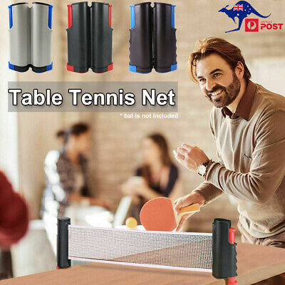 AU25.99 • Buy Retractable Table Tennis Net Rack Portable Replacement Ping Pong Games Sports