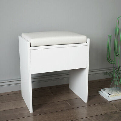 Brief Dressing Table Stool Piano Seat Padded Soft Makeup Bench Chair Bar Bedroom • 15£