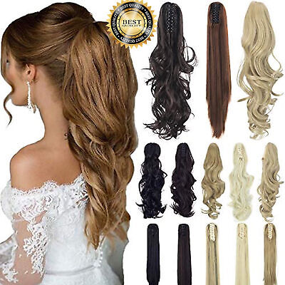 £5.99 • Buy Clip In Around Hair AS HUMAN HAIR Extension Ponytail Lady Beauty Smooth