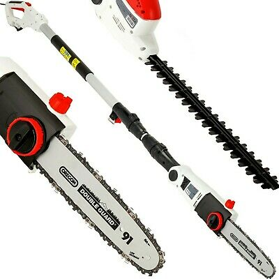 £99.99 • Buy 2 In 1 Electric Pole Corded Chainsaw & Hedge Trimmer Telescope Grade B Used