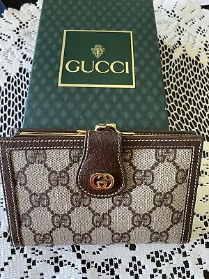 $279.99 • Buy Gucci Vintage GG Plus French Purse Wallet