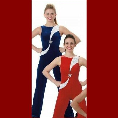 All Star Dance Costume RED Leotard Tap Unitard Catsuit Cheer New Adult X-Large • 10.82£