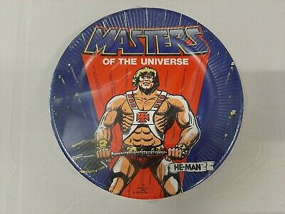 $24.69 • Buy Vintage He-Man Masters Of The Universe Party Supplies - 9inch Paper Plates 8Pack