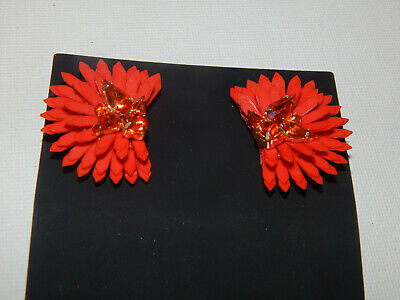 $ CDN78.49 • Buy Earrings Mignonne Gavigan Rhinestone S/m Post Metal Orange Anthropologie $128