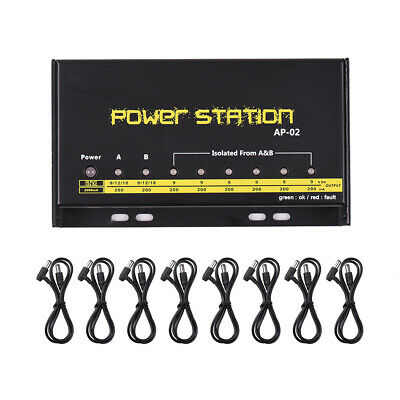 $ CDN44.50 • Buy Guitar Pedal Power Supply 8 DC Outputs For Effect Pedal Boards Power Station Box