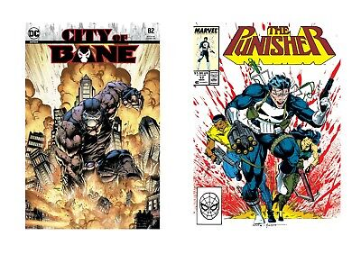 Comic Book Characters - Bane And Punisher Superheroes Canvas Pictures 24x32  • 24.99£
