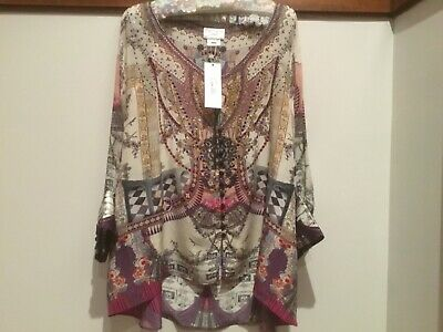 AU330 • Buy Camilla Raglan Sleeve Brand New With Tags Silk Blouse. Violet City. O/S