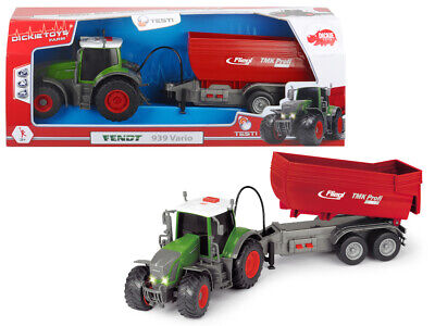 AU49.99 • Buy Dickie Toys Tractor Fendt 939 With Trailer, Light And Sound, 41cm