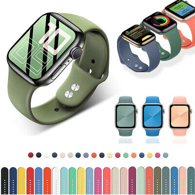 $ CDN6.79 • Buy 38/40mm 42/44mm Silicone Sports Wrist Bands Strap For Apple Watch Series 5 4 3 2