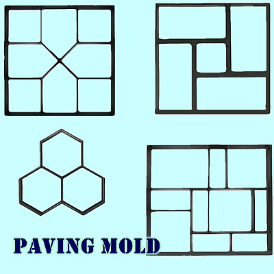 Garden Pavement Paving Mold Reusable Concrete Stone Walk Path Maker Mould UK S1 • 13.99£