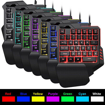 AU29.99 • Buy Backlight One-hand Game Keyboard Mouse Set Bundle USB For PC PS4 Xbox One 360