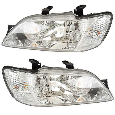 $180 • Buy Headlights Front Lamps Pair Set For 02-03 Mitsubishi Lancer Left & Right