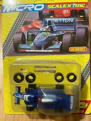 Micro Scalextric G128 Benetton Renault F1 - Brand New - Rare Blister Pack • 44.99£