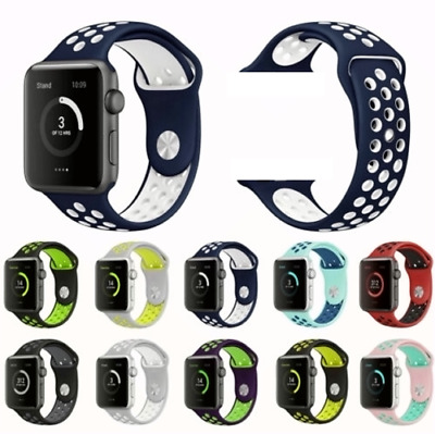 $ CDN6.47 • Buy 40/44mm 38/42mm Silicone Sports IWatch Band Strap For Apple Watch Series 5 4 3 2