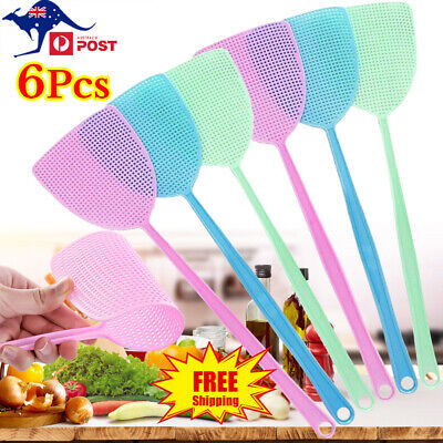 AU12.98 • Buy 6Pcs Home Large Fly Swatter Swat Insect Killer Wasp Bug Mosquito Plastic Catcher