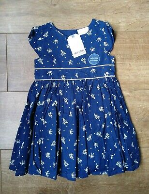 £13 • Buy BNWT NEXT GIRLS Navy Ditsy Prom Dress And Knickers Set 12-18 Months