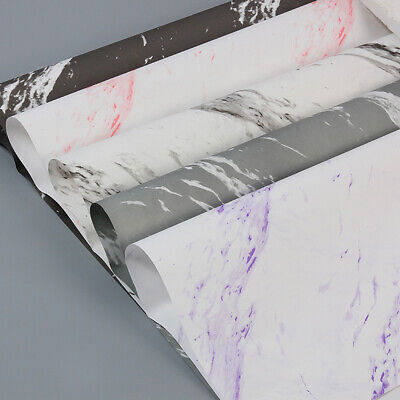 10Pcs Flower Wrapping Paper Marbling Bouquet Gifts Packaging Wedding Party DIY • 7.02£