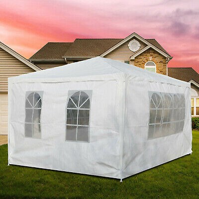 3m X 4m White Waterproof Outdoor Garden Gazebo Party Tent Marquee Canopy New • 43.99£