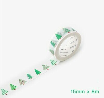AU2.90 • Buy Japan Washi Tape Green Trees Christmas Trees 15mm X 8m MT135