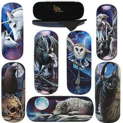 Hard Glasses Spectacle Case And Cloth Mythical Magical Myth Magic Cat Wolf Owl  • 6.99£