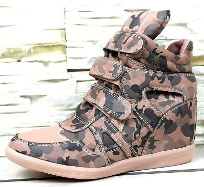 Womens Hidden Wedge Heel Sneakers Trainers Plimsoll Comfy Casual Shoes Sizes 3-8 • 17.99£