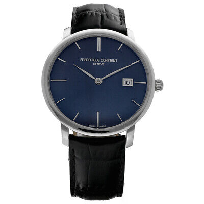 $765 • Buy Frederique Constant Slimline FC-306G4S6 Steel 40mm Leather Automatic Men's Watch