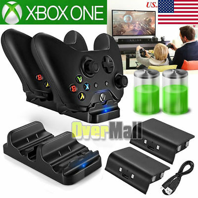 $20.99 • Buy For XBOX ONE Dual Charging Dock Station Controller Charger Rechargeable Battery